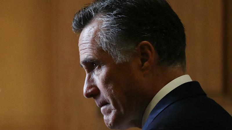 Romney breaks ranks with Republicans and votes to convict Trump