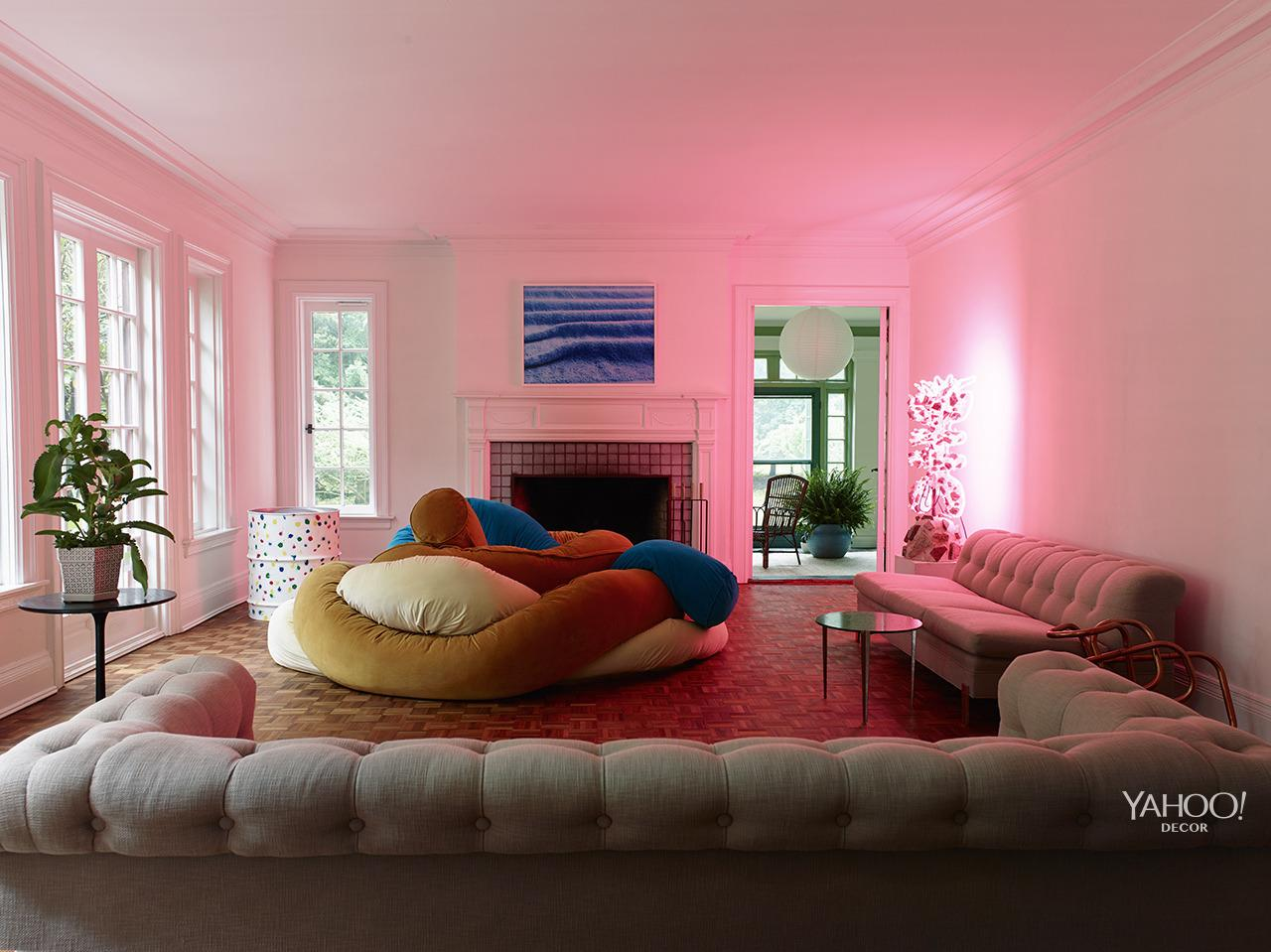"""<p>""""We call this the 'cozy room,' with my 'Mrs. Noodle Pillow' in the middle.""""<br /></p>"""
