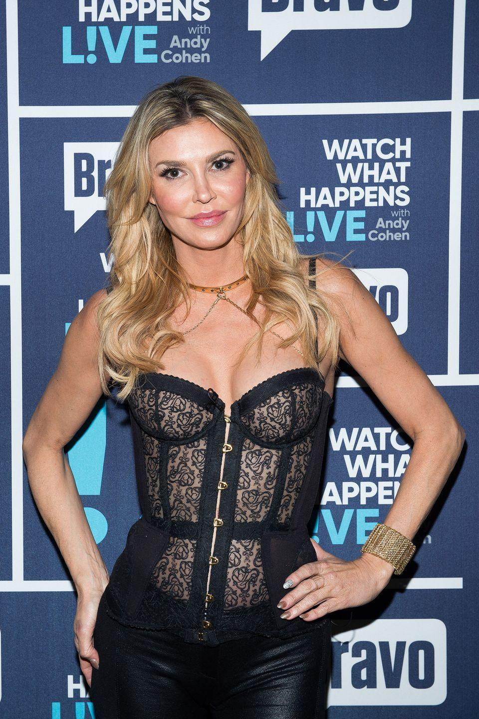 """<p>Oh, Brandi Glanville… Despite leaving (or getting fired—it's unclear which) the <em>Real Housewives of Beverly Hills</em> after season 5, hers was the name on everyone's lips at the climax of the latest season, when she claimed to have had an affair with <em>Housewives</em> newcomer Denise Richards. Brandi's story has so many twists and turns it's worth of an article all it's own. Good news: <a href=""""https://www.womenshealthmag.com/life/a33313072/brandi-glanville-leave-real-housewives-of-beverly-hills/"""" rel=""""nofollow noopener"""" target=""""_blank"""" data-ylk=""""slk:We've got you covered!"""" class=""""link rapid-noclick-resp"""">We've got you covered!</a></p>"""