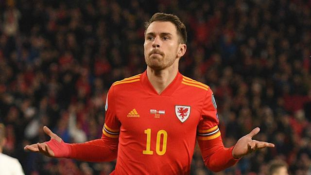 Juventus midfielder Aaron Ramsey scored a goal in each half as Wales overhauled Hungary to claim a place at Euro 2020.