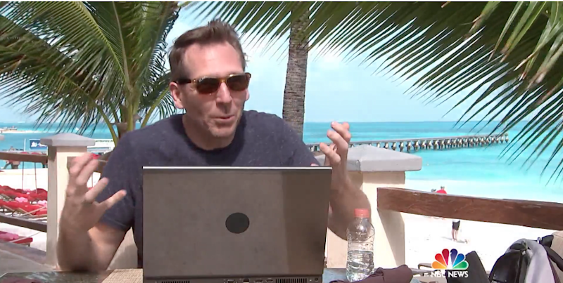 Cyber Security Expert Jim Stickley carried out an experiment at the Grand Fiesta Americana hotel in Cancun, Mexico. Photo: Today Show/NBC