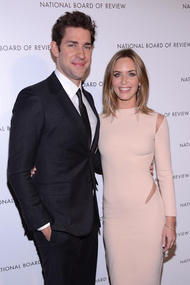 NEW YORK, NY - JANUARY 08:  Actors John Krasinski and Emily Blunt attend the 2013 National Board Of Review Awards Gala at Cipriani 42nd Street on January 8, 2013 in New York City.  (Photo by Stephen Lovekin/Getty Images)