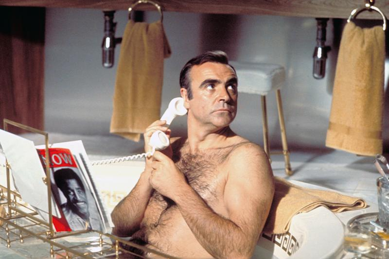 Actor Sean Connery on the set of Diamonds Are Forever. (Photo by Sunset Boulevard/Corbis via Getty Images)