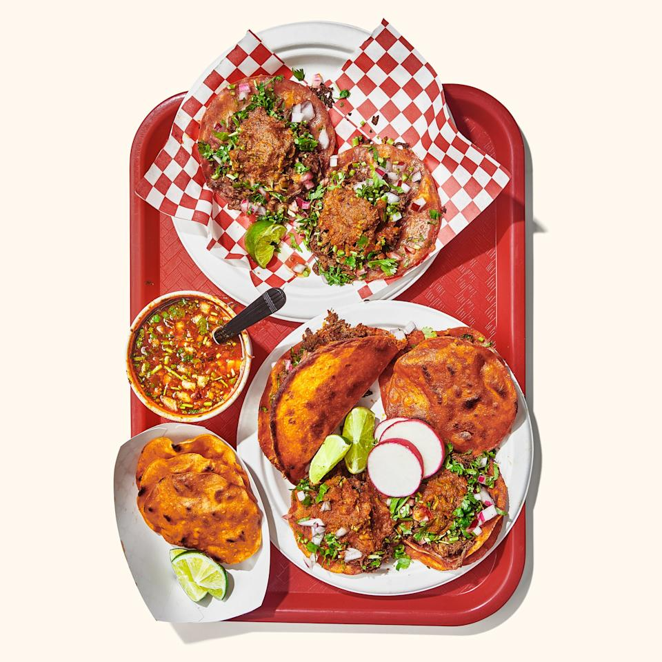 """I'm not really sure why everyone else wants to relocate to Southern California (something about the weather?), but I'm in it for the birria. On my most recent visit, I started at the new Venice location of <a href=""""https://www.facebook.com/teddysredtacos/"""">Teddy's Red Tacos</a> (pictured), where I quickly learned the distinction between the Tijuana-style birria blowing up in L.A.—typically spicy slow-cooked beef—and the Jalisco-style birria I knew from my Chicago days, which was usually goat. As good as owner Teddy Vasquez's orange-jus-stained tacos, tostadas, and quesadillas are, it was the Styrofoam cup of deeply flavorful sinus-clearing beef consommé that got me. All I need is a little Eastside bungalow and I could spend every day hitting up the list of birria spots I've been making since that visit: <a href=""""http://www.burritoslapalma.net/"""">Burritos La Palma</a> in El Monte, <a href=""""https://www.facebook.com/TacosyBirriaLaUnica/"""">Tacos y Birria La Unica</a> in Boyle Heights, <a href=""""https://www.facebook.com/charliestacos01/"""">Charlie's Tacos</a> (weekends only) in Highland Park, etc. Now if only I could remember how to drive.... <em>—J.K.</em>"""