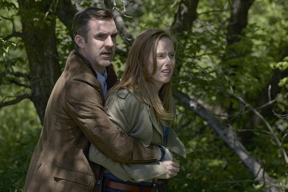 <p>Loss and the experience of coping with it, in <em>Channel Zero: Candle Cove</em>. We're a horror show, and loss is the most universal real world horror. (Credit: Allen Fraser/Syfy) </p>