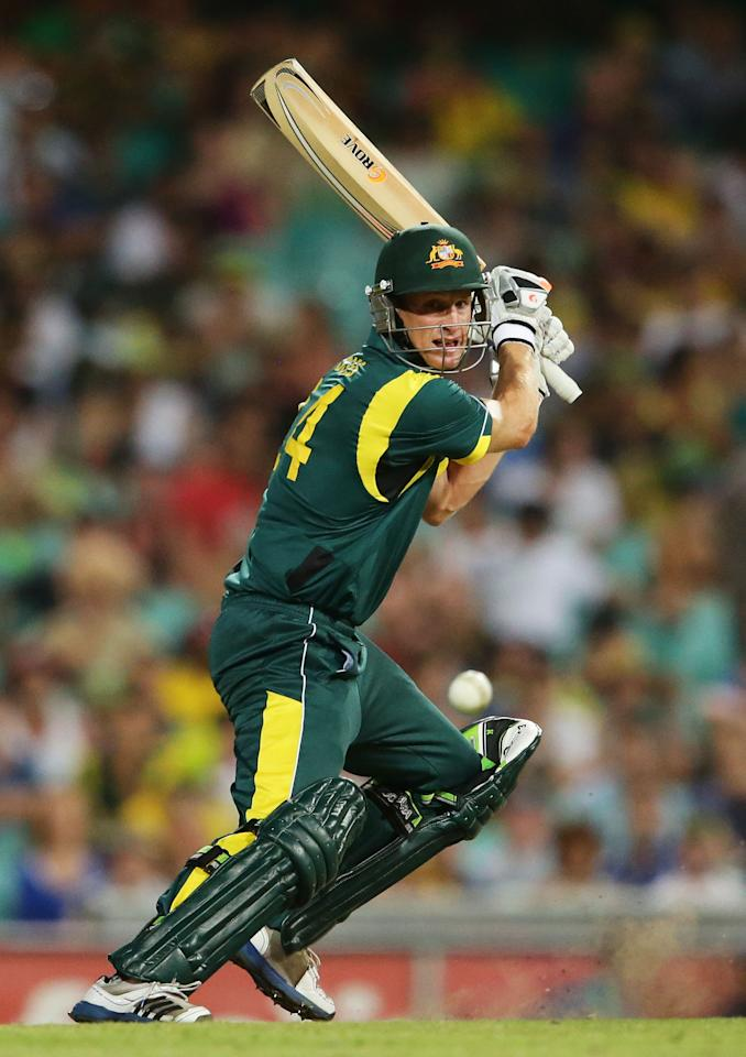 SYDNEY, AUSTRALIA - FEBRUARY 08:  Adam Voges of Australia plays a cut shot during game four of the Commonwealth Bank One Day International Series between Australia and the West Indies at Sydney Cricket Ground on February 8, 2013 in Sydney, Australia.  (Photo by Matt King/Getty Images)