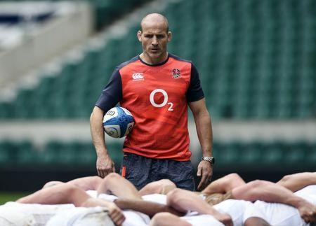 FILE PHOTO: Britain Rugby Union - England Training - Twickenham Stadium - June 2, 2017 England defence coach Paul Gustard during training Action Images via Reuters / Adam Holt Livepic