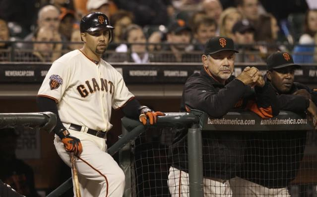 Carlos Beltran's short stint with the San Francisco Giants didn't lead to a postseason berth. (AP)