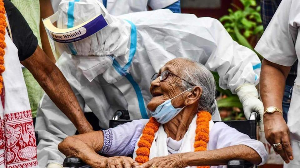 82-year-old UP woman beats COVID-19 using the