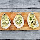 """When you don't feel like struggling to shuck oysters, just throw them on the grill. <a href=""""https://www.epicurious.com/recipes/food/views/grilled-pop-up-oysters-51238860?mbid=synd_yahoo_rss"""" rel=""""nofollow noopener"""" target=""""_blank"""" data-ylk=""""slk:See recipe."""" class=""""link rapid-noclick-resp"""">See recipe.</a>"""