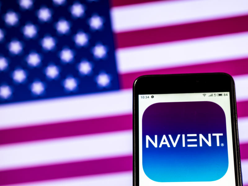 KIEV, UKRAINE - 2019/01/07: In this photo illustration, the Navient Corporation logo seen displayed on a smartphone. (Photo Illustration by Igor Golovniov/SOPA Images/LightRocket via Getty Images)