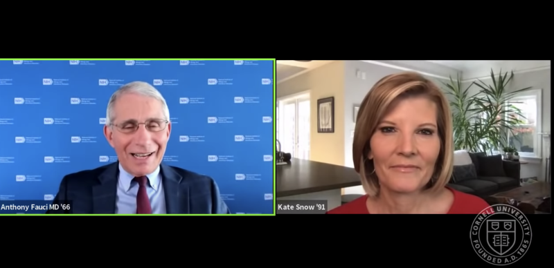 Anthony Fauci and Kate Snow