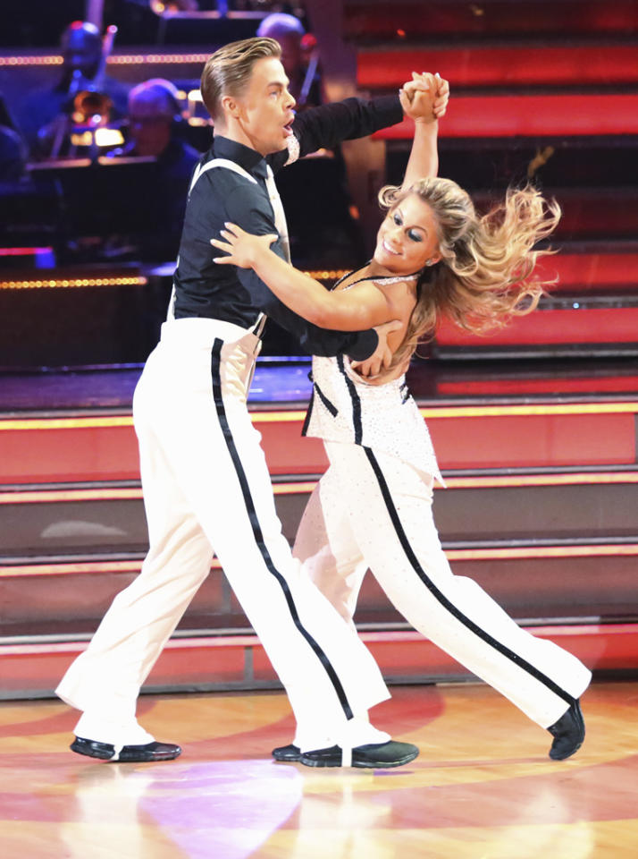 """Derek Hough and Shawn Johnson perform on """"Dancing With the Stars: All-Stars."""""""