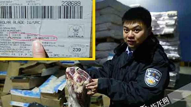 Chinese officials seize hundreds of kilos of expired meat and unlabelled fish in latest food safety crackdown