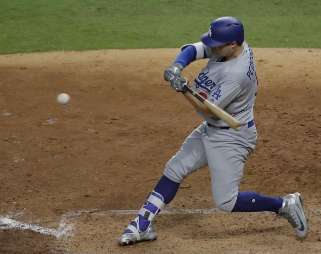 Joc Pederson's home run in Game 4 broke the contest open. (AP Photo/Eric Gay)