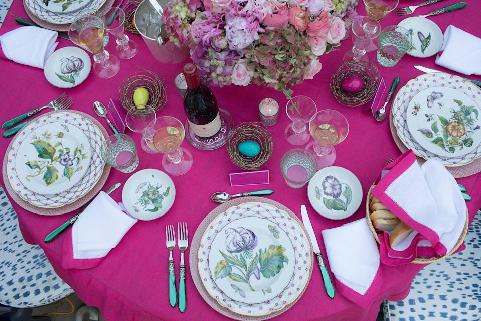 """<p>Arranging a festive Easter table is a great way to show off your creativity—take some <a href=""""https://www.elledecor.com/design-decorate/g2971/sophisticated-easter-decorations/"""" rel=""""nofollow noopener"""" target=""""_blank"""" data-ylk=""""slk:thoughtful decorative accents"""" class=""""link rapid-noclick-resp"""">thoughtful decorative accents</a>, mix in an assortment of spring-appropriate hues and textures, and you're all set. Here, some of our favorite design experts and entertaining gurus share their best Easter table decor tips to impress your loved ones, whether you're hosting an elegant dinner or a <a href=""""https://www.elledecor.com/life-culture/food-drink/g2980/best-places-to-have-easter-brunch/"""" rel=""""nofollow noopener"""" target=""""_blank"""" data-ylk=""""slk:laid-back brunch"""" class=""""link rapid-noclick-resp"""">laid-back brunch</a>. Happy tablescaping!</p>"""