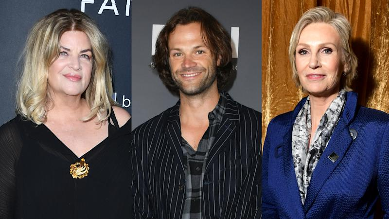 Kirstie Alley, Jared Padalecki and Jane Lynch are revealing five jobs they've held. (Photo: Getty Images)