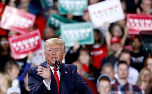US President Donald Trump ticked off his list of enemies as he addressed supporters in Michigan