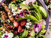 """<h2>24. Chicken, Avocado and Goat Cheese Salad</h2> <p>Worthy of a goddess (like you).</p> <p><a class=""""link rapid-noclick-resp"""" href=""""https://www.halfbakedharvest.com/california-chicken-avocado-and-goat-cheese-salad/?highlight=chicken"""" rel=""""nofollow noopener"""" target=""""_blank"""" data-ylk=""""slk:Get the recipe"""">Get the recipe</a></p>"""