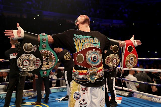 Oleksandr Usyk is now 16-0 with 12 knockouts in his professional career. (Nick Potts/PA)