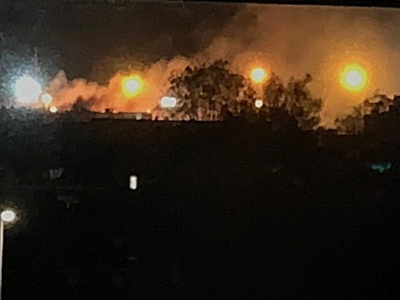 BEST QUALITY AVAILABLE Handout photo taken from the Twitter feed of @DamianHealy of the Tata Steel site in Port Talbot as two people have suffered injuries after an explosion rocked the UK's largest steelworks causing fire to break out. PRESS ASSOCIATION Photo. Issue date: Friday April 26, 2019. Emergency services including paramedics and firefighters rushed to the complex after 999 calls began to stream in at around 3.35am. See PA story POLICE Tata. Photo credit should read: @DamianHealy/PA Wire NOTE TO EDITORS: This handout photo may only be used in for editorial reporting purposes for the contemporaneous illustration of events, things or the people in the image or facts mentioned in the caption. Reuse of the picture may require further permission from the copyright holder.