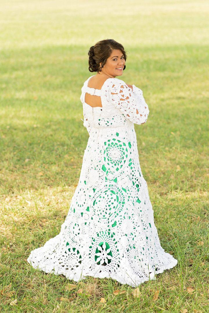 """When I [finally] put the dress on, I was, for one, amazed that it looked exactly like what I thought it would look like in my head,"" bride Abbey Ramirez-Bodley -- who spent <a href=""https://www.huffingtonpost.com/entry/diy-bride-crochets-own-wedding-dress_us_564634bfe4b060377348ed16"">eight months crocheting the gown with her aunt</a> -- previously told HuffPost. ""We didn't have a pattern so it was hard — I couldn't take the image I had in my head and give it to my aunt and say, 'This is what I want.' It was amazing. It was emotional. [Especially] when you put that much time and love into something."""