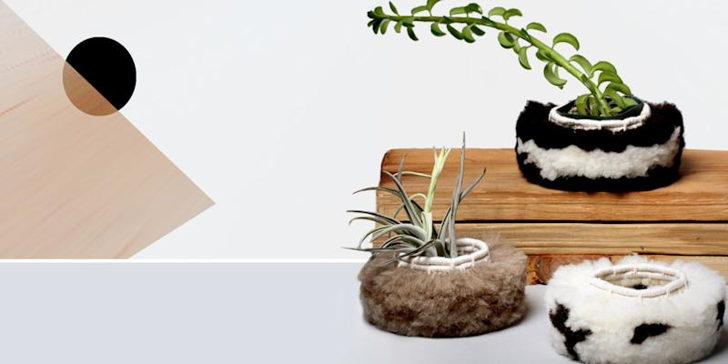 "We thought we'd seen everything—then we came across this furry planter. C'mon, we all need things in our homes that serve just to make us happy. (And don't worry, it's faux!) SHOP NOW: Fur Basket #009 by Karen Tinney, 7""l x 7""w x 4""h, $50, workof.com"