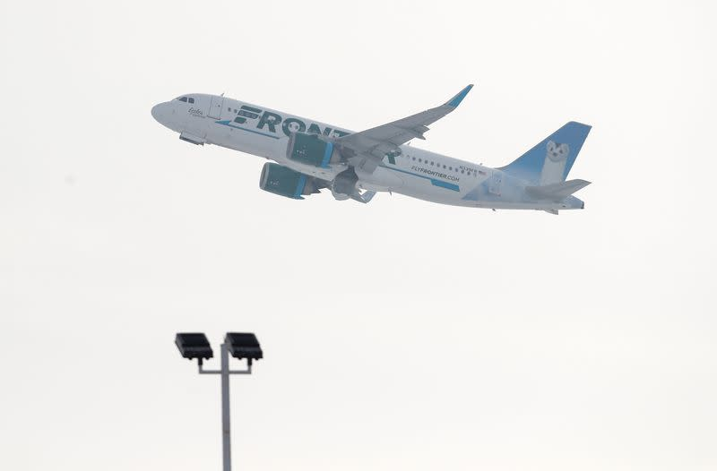 Low-cost carrier Frontier says 35% of flight attendant, pilot jobs at risk