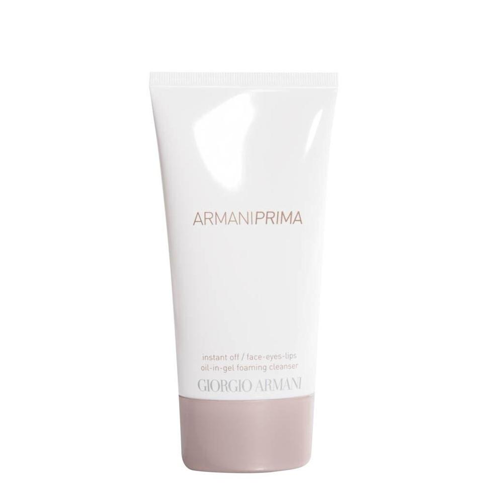 """<p>If the double-cleanse life sounds like too much work but you still want to reap the glowing results, Giorgio Armani's Prima Oil-in-Gel Foaming Cleanser simplifies it all into one luxurious face-wash experience. It combines everything you love about a foaming cleanser with the efficiency of a makeup-removing oil for a decadent wash that leaves skin looking instantly refreshed.</p> <p><strong>$60</strong> (<a href=""""https://shop-links.co/1708646020070499389"""" rel=""""nofollow noopener"""" target=""""_blank"""" data-ylk=""""slk:Shop Now"""" class=""""link rapid-noclick-resp"""">Shop Now</a>)</p>"""