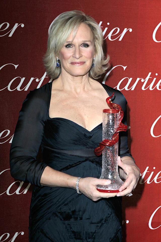 "<a href=""http://movies.yahoo.com/movie/contributor/1800019740"">Glenn Close</a> attends the 23rd Annual Palm Springs Film Festival awards gala on January 7,2012."