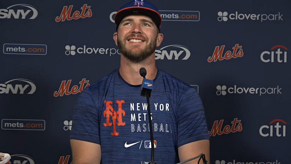 Pete Alonso spring training post game zoom