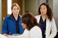 """<p><strong><a class=""""link rapid-noclick-resp"""" href=""""https://www.popsugar.co.uk/Grey%E2%80%99s-Anatomy"""" rel=""""nofollow noopener"""" target=""""_blank"""" data-ylk=""""slk:Grey's Anatomy"""">Grey's Anatomy</a></strong> follows the professional and personal growth of Dr. Meredith Grey (played by <a class=""""link rapid-noclick-resp"""" href=""""https://www.popsugar.co.uk/Ellen-Pompeo"""" rel=""""nofollow noopener"""" target=""""_blank"""" data-ylk=""""slk:Ellen Pompeo"""">Ellen Pompeo</a>) from intern to the chief of general surgery at Grey Sloan Memorial Hospital - how much more badass does it get?</p> <p>Watch <a href=""""https://www.netflix.com/title/70140391"""" class=""""link rapid-noclick-resp"""" rel=""""nofollow noopener"""" target=""""_blank"""" data-ylk=""""slk:Grey's Anatomy""""><strong>Grey's Anatomy</strong></a> on Netflix now.</p>"""