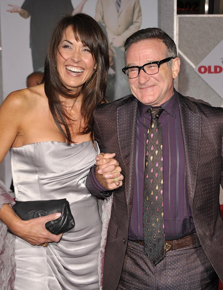 "<a href=""http://movies.yahoo.com/movie/contributor/1808831024"">Susan Schneider</a> and <a href=""http://movies.yahoo.com/movie/contributor/1800013042"">Robin Williams</a> at the Los Angeles premiere of <a href=""http://movies.yahoo.com/movie/1809918087/info"">Old Dogs</a> - 11/09/2009"