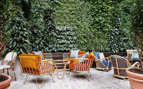 After shopping on Rue Tiquetonne and Rue Bachaumont, head to the Hoxton Paris' Instagram-ready courtyard restaurant for a drink