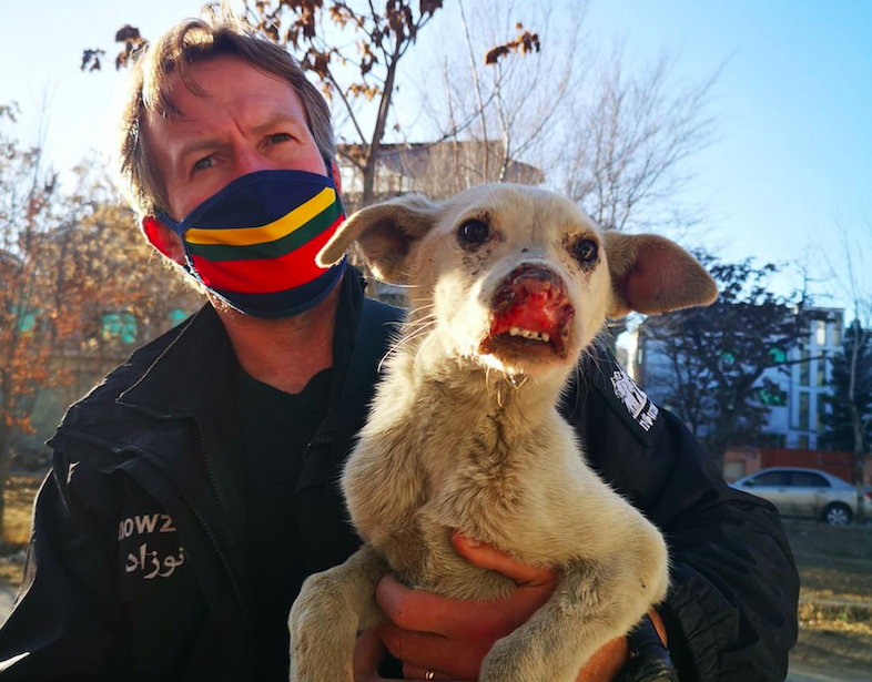 Pen Farthing founded the Nowzad shelter in Kabul after serving with the British Army in Afghanistan in the mid-2000s. (PA)