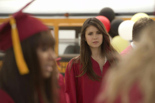 """Graduation"" -- Kat Graham as Bonnie and Nina Dobrev as Elena"