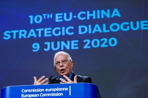 EU diplomatic chief Josep Borrell has expressed 'concern' about recent US foreign policy decisions