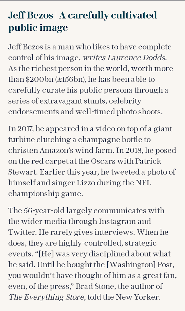 Jeff Bezos | A carefully cultivated public image