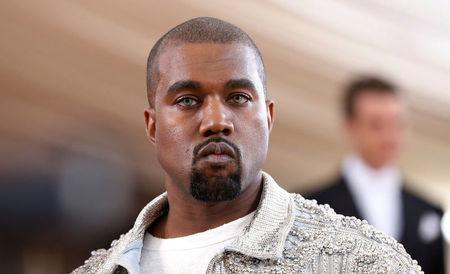 Entertainer Kanye West arrives at the Met Gala in New York