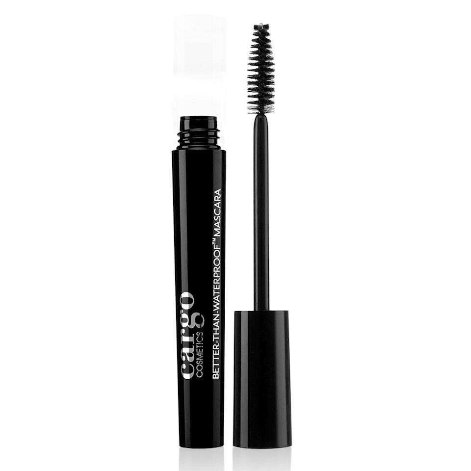 """<p><em><strong>$20, </strong></em><em><strong><a rel=""""nofollow noopener"""" href=""""http://www.cargocosmetics.com/eyes/better-than-waterproof-mascara.html"""" target=""""_blank"""" data-ylk=""""slk:cargocosmetics.com"""" class=""""link rapid-noclick-resp"""">cargocosmetics.com</a></strong></em></p><p>Give your lashes some leeway this season, because once the warm-weather comes through it'll be poolside central until August rolls around. Cargo's mascara caters to everyday activities, from putting in hours at the office to days spent at the shore. A water-based formula enhanced with beeswax and carnauba wax, one coat instantly adds volume to lashes that are lacking, and you need not worry about smudging or streaking.</p><p><strong>More:</strong> <a rel=""""nofollow noopener"""" href=""""http://www.bestproducts.com/beauty/g1103/best-waterproof-mascara/"""" target=""""_blank"""" data-ylk=""""slk:11 Waterproof Mascaras That Won't Smudge or Streak"""" class=""""link rapid-noclick-resp"""">11 Waterproof Mascaras That Won't Smudge or Streak</a></p><p><a rel=""""nofollow noopener"""" href=""""http://www.bestproducts.com/beauty/g1340/best-cargo-cosmetics-makeup/"""" target=""""_blank"""" data-ylk=""""slk:From Best Products"""" class=""""link rapid-noclick-resp"""">From Best Products</a></p>"""