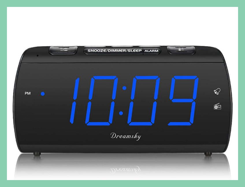 This alarm clock charges your phone as you snooze — save nearly 40 percent off for Prime members only! (Photo: Amazon)