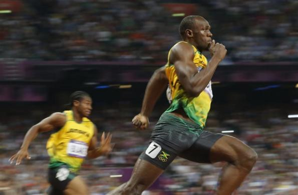 Jamaica's Usain Bolt runs to win the men's 200m final at the London 2012 Olympic Games at the Olympic Stadium August 9, 2012.
