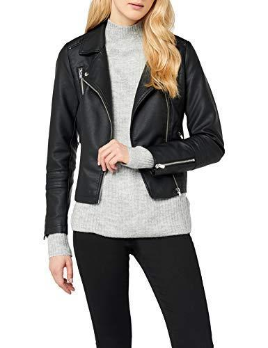 Only onlGEMMA Faux Leather Biker Otw Noos Giacca, Nero (Black Black), X-Large (Taglia Produttore: 42) Donna