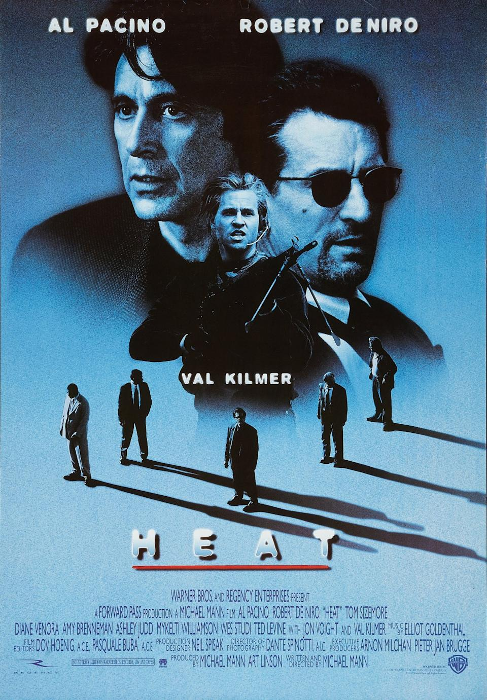 The poster for Michael Mann's gripping 1995 masterpiece Heat.