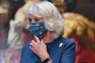 """<p>Mom and grandmother Camilla, Duchess of Cornwall has been tracking her steps using a Fitbit, which she wears during royal engagements.</p> <p><strong>Buy It! Fitbit Charge 4, <a href=""""https://www.fitbit.com/global/us/products/trackers/charge4?sku=417BKBK"""" rel=""""sponsored noopener"""" target=""""_blank"""" data-ylk=""""slk:$130"""" class=""""link rapid-noclick-resp"""">$130</a></strong></p>"""