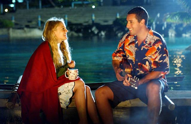<p>It's true that, of all Adam Sandler's leading ladies, Drew Barrymore is the actress with whom he shares the most chemistry in good movies (<em>The Wedding Singer</em>) as well as bad (<em>Blended</em>). But it's also true that their chemistry alone can't overcome the ickiness of their second rom-com, in which Sandler's veterinarian woos Barrymore's amnesiac, whose memories of their relationship are erased every night. (Photo: Columbia/courtesy Everett Collection) </p>