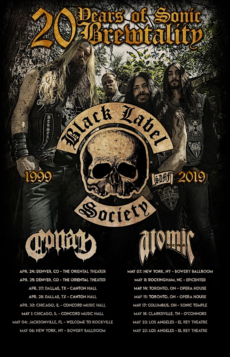 Black Label Society announce spring 2019 North American tour