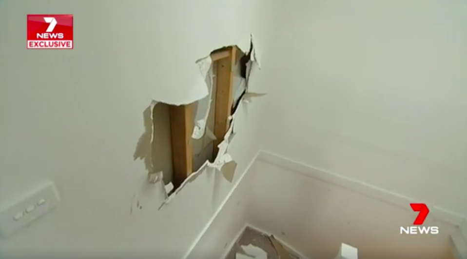 The home suffered substantial damage believed to be in the hundreds of thousands of dollars. Source: 7News