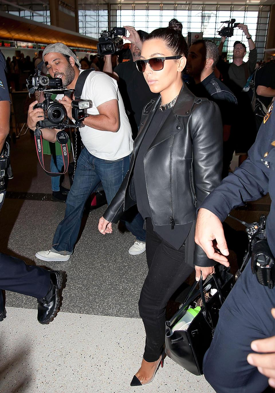Kim at the Los Angeles International Airport in 2012.