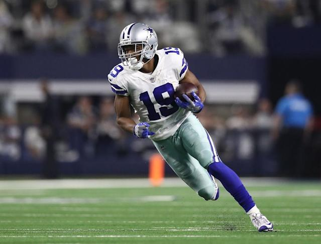Amari Cooper, pictured here last week against Seattle, scored early against Los Angeles. (Getty)